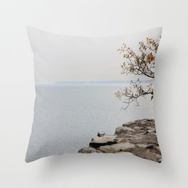 Along the North Shore Throw Pillow