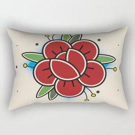 Old School Tattoo Flower Rectangular Pillow
