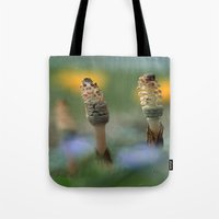 guardians Tote Bags featuring The Guardians by Robin Curtiss