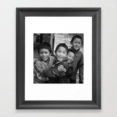 Lukla Children 1 Framed Art Print