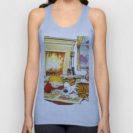 calvin and hobbes Unisex Tank Top