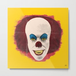 The Perplexing Pennywise, the Dancing Clown Metal Print