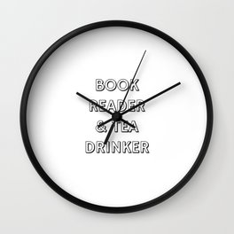 BOOK READER & TEA DRINKER Wall Clock