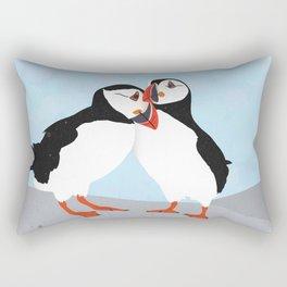 Puffin love you Rectangular Pillow