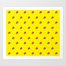 Geometrix / Yellow Art Print