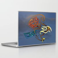 hawk Laptop & iPad Skins featuring Hawk by Knot Your World