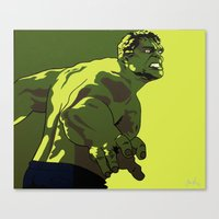 hulk Canvas Prints featuring Hulk by iankingart
