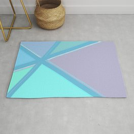 Coloured Glass Abstract Rug