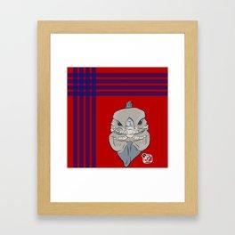 Rhino Iguana Plaid Framed Art Print