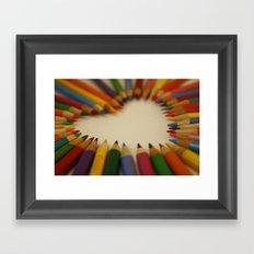 you color my world  Framed Art Print