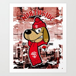 Northside Dog Art Print