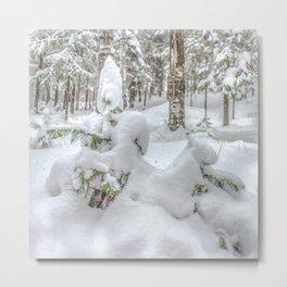 Christmas Snow Metal Print