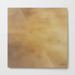 Modern elegant abstract faux gold gradient Metal Print