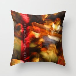 People with movement Throw Pillow