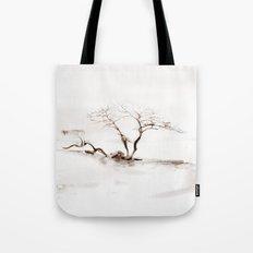 Scots Pine Sepia Tote Bag