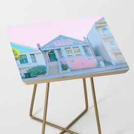 San Francisco Painted Lady Victorian House Side Table