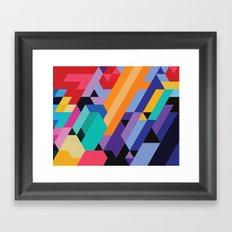 Flat Geometry 01 Framed Art Print