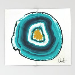 Agate Turquoise  Throw Blanket