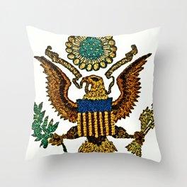 Patriotic Eagle Throw Pillow