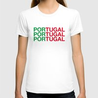 portugal T-shirts featuring PORTUGAL by eyesblau