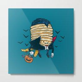 Spooky Pancake Metal Print