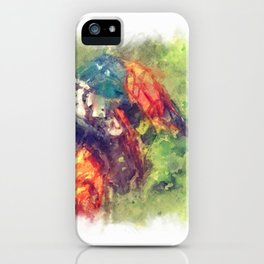 The Starting Gate - Motocross Champion Rider Prepares to Race iPhone Case