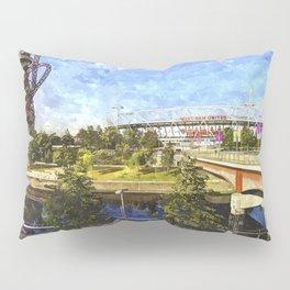 West Ham Olympic Stadium And The Arcelormittal Orbit Art Pillow Sham