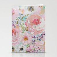 craftberrybush Stationery Cards featuring Acrylic rose garden  by craftberrybush