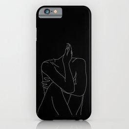 Nude figure illustration - Celina Black iPhone Case