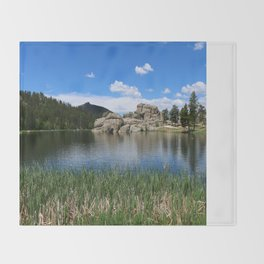 Sylvan Lake In The Black Hills Throw Blanket
