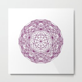c60 truncated icosahedron Metal Print