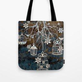Bird Cage Chandelier Tote Bag