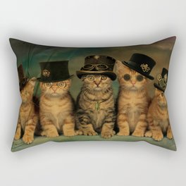 Steampunk Kittens Rectangular Pillow