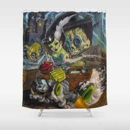 Monster ride. Shower Curtain