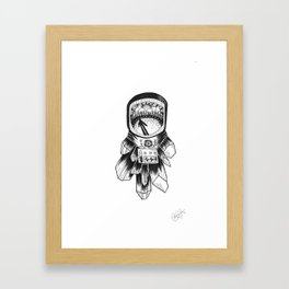 Astronaut in the Woods Framed Art Print
