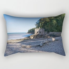 Elberry Cove - Agatha Christie's Favourite Bathing Spot Rectangular Pillow