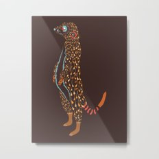 Abstract Meerkat Metal Print