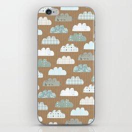 clouds pattern iPhone Skin