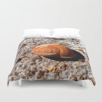 snail Duvet Covers featuring Snail by Chico Sanchez