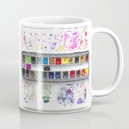 Messy Watercolor Painting Palette Photograph Coffee Mug
