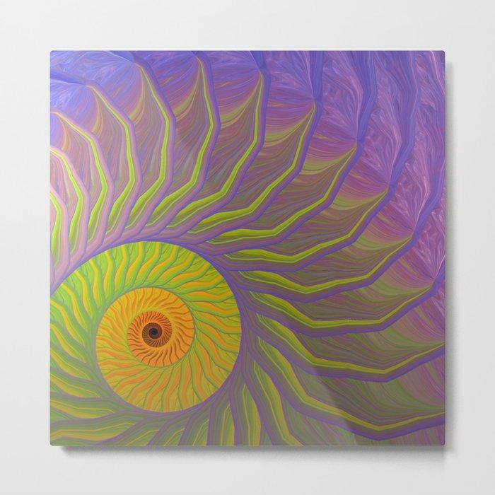 Fantasy Nautilus shell abstract Metal Print