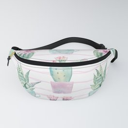 Cute Potted Cacti Stripe Pattern Fanny Pack