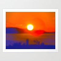 Croatia Sunset Art Print