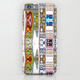 Kaleidoscope Rivers on White Background iPhone Case