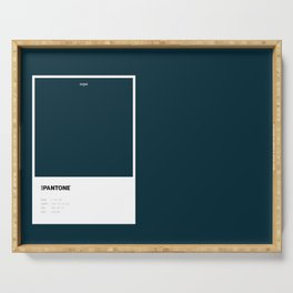 Not Pantone Collection #042A38 Navy Dark Teal Serving Tray