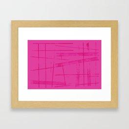 A hot pink mess Framed Art Print