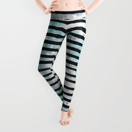 Ugly Abstract Stripes Leggings