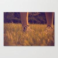 converse Canvas Prints featuring Converse by Sarah Zanon