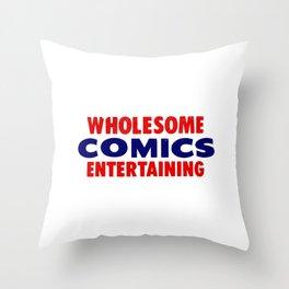 Wholesome Comics Entertaining Throw Pillow