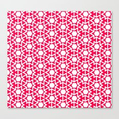 Zoutman Neon Pink Pattern Canvas Print